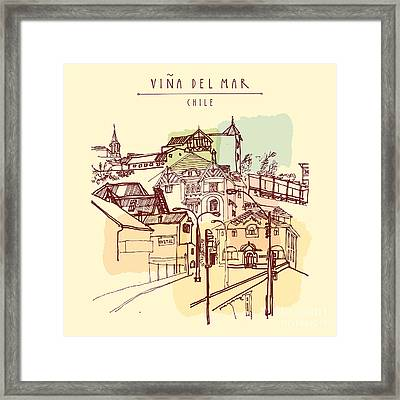 Victorian Style Architecture In Vina Framed Print
