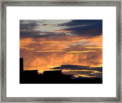 Victorian Sunset Framed Print by SEA Art