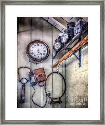 Victorian Train Memorabilia Framed Print by Adrian Evans