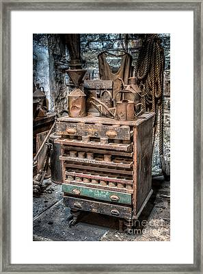Victorian Workshop Framed Print
