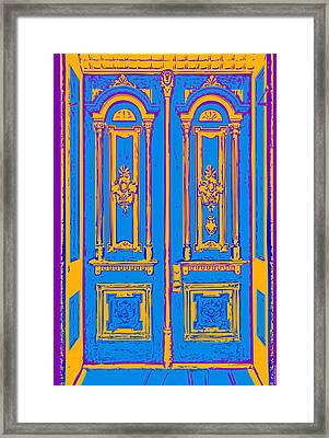 Victoriandoorpopart Framed Print by Greg Joens