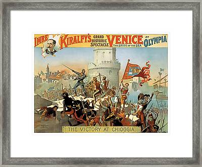 Victory At Chioggia Framed Print