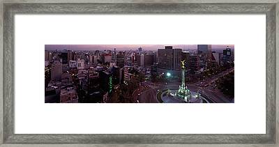 Victory Column In A City, Independence Framed Print
