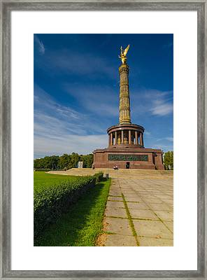 Victory Column Framed Print by Jonah  Anderson