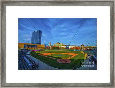 Victory Field Home Plate Framed Print