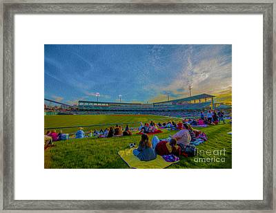 Victory Field Oil Framed Print by David Haskett