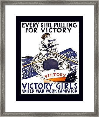 Victory Girls Of W W 1     1918 Framed Print by Daniel Hagerman