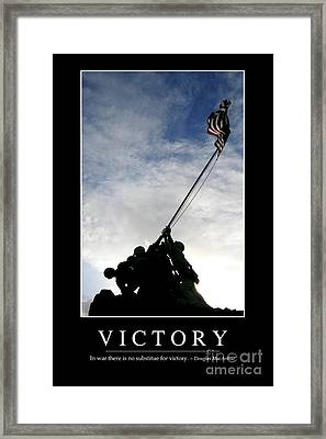 Victory Inspirational Quote Framed Print by Stocktrek Images