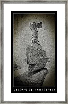 Victory Of Samothrace Framed Print by Weston Westmoreland