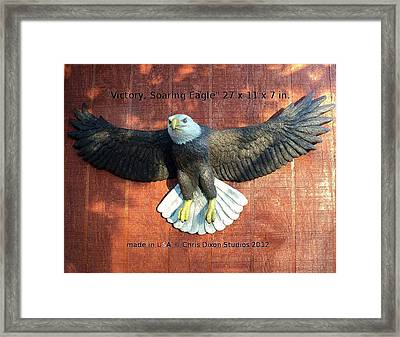 Victory - Soaring Eagle Statue Framed Print by Chris Dixon