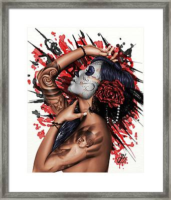 Vidas Angel Framed Print by Pete Tapang