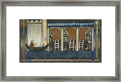 Vie De Saint Denis, Page 37. 1317 Framed Print by Everett