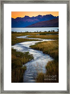 Viedma Creek Framed Print by Inge Johnsson