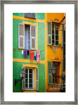 Vieille Ville Windows Framed Print