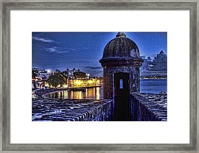 Viejo San Juan En La Noche Framed Print by Daniel Sheldon