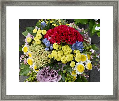 Framed Print featuring the photograph Vienna Bouquet by Kay Gilley