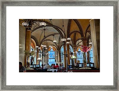 Vienna Central Cafe Framed Print by Viacheslav Savitskiy