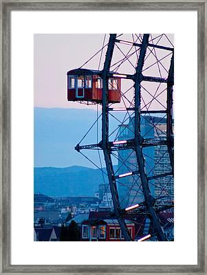 Vienna Ferris Wheel Framed Print by Viacheslav Savitskiy