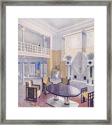 Viennese Project From A Hall Framed Print by Austrian School