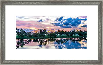 Viera Sunrise Scene 1 Framed Print by Cliff C Morris Jr