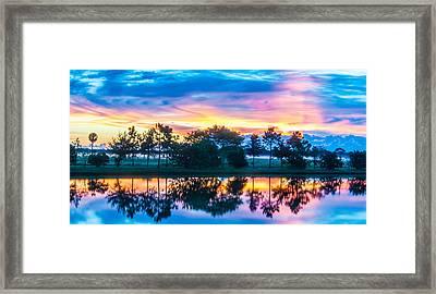 Viera Sunrise Scene 2 Framed Print by Cliff C Morris Jr