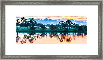 Viera Sunrise Scene 3 Framed Print by Cliff C Morris Jr