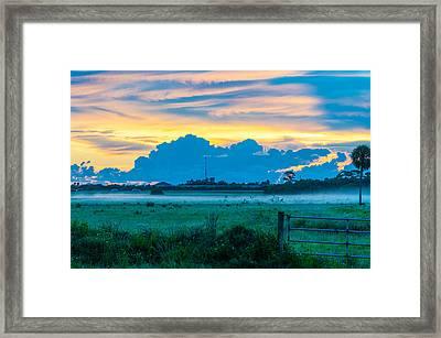 Viera Sunrise Scene 4 Framed Print by Cliff C Morris Jr