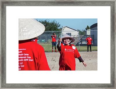 Viet Senior Olympics Framed Print by Jim West