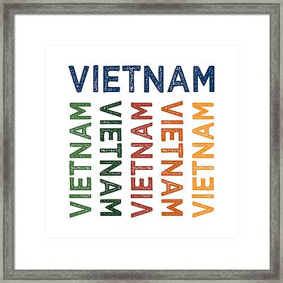 Vietnam Cute Colorful Framed Print by Flo Karp