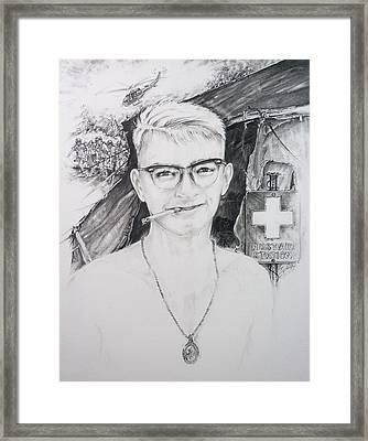 Vietnam Medic Framed Print by Scott and Dixie Wiley
