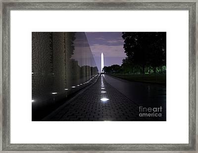 Vietnam Memorial - 3190 Framed Print by Chuck Smith