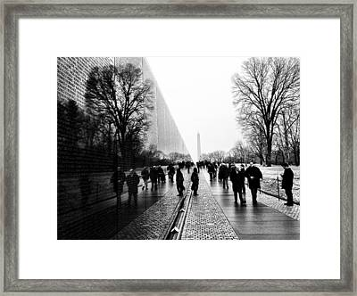 Framed Print featuring the photograph Vietnam Memorial by Michael Donahue