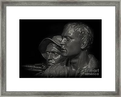 Vietnam Memorial No. 1 Framed Print by Jerry Fornarotto