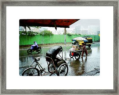 Vietnam Rainy Saigon Framed Print