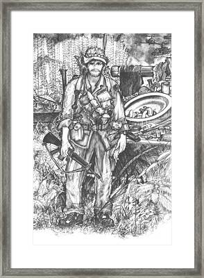 Vietnam Soldier Framed Print by Scott and Dixie Wiley