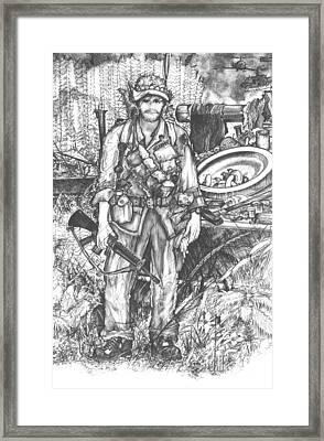 Vietnam Soldier Framed Print