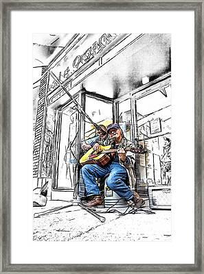 Vietnam Veteran Framed Print by John Haldane