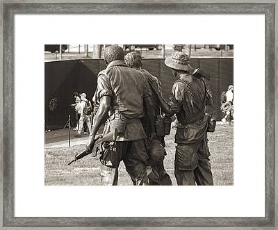 Vietnam Veterans Memorial 2 - Washington Dc Framed Print