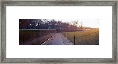 Vietnam Veterans Memorial At Sunrise Framed Print