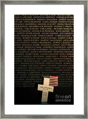 Vietnam Veterans Memorial Framed Print by John Greim