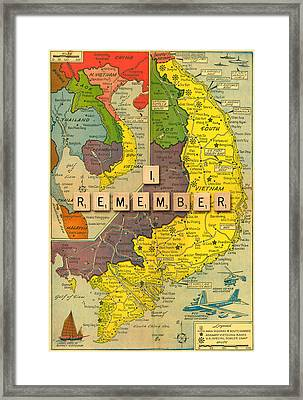 Vietnam War Map Framed Print