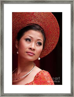 Vietnamese Bride 10 Framed Print by Rick Piper Photography