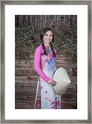 Vietnamese Girl Framed Print