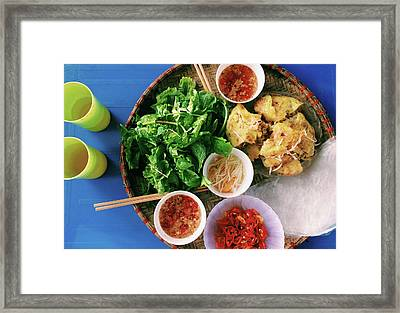 Vietnamese Local Food - Banh Xeo Framed Print by Quynh Anh Nguyen