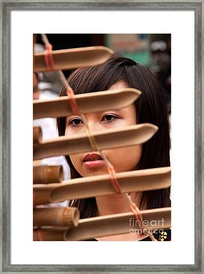 Vietnamese T'rung Player Framed Print by Rick Piper Photography
