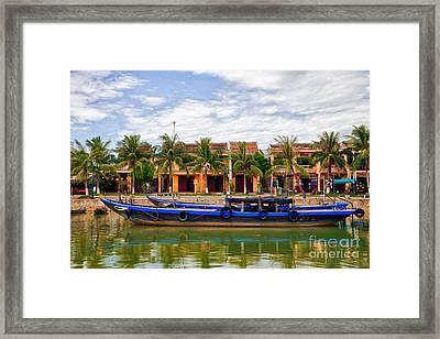 Vietnamese Unesco City Of Hoi An Vietnam Framed Print
