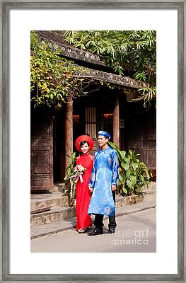 Vietnamese Wedding Couple 01 Framed Print by Rick Piper Photography