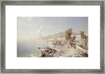 Vietri Sul Mare Looking Towards Salerno Framed Print