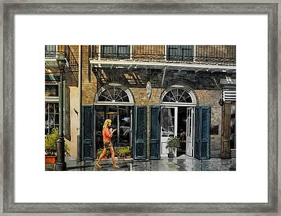 Vieux Carre Girl Framed Print