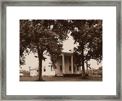 Framed Print featuring the photograph View 2 Homestead Forgotten by Deborah Fay